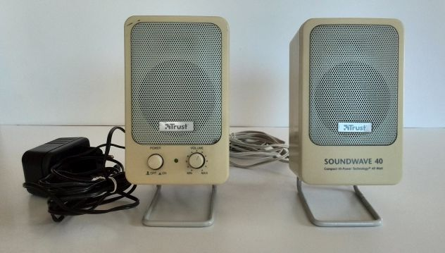 Coppia di altoparlanti TRUST SoundWave 40 per pc