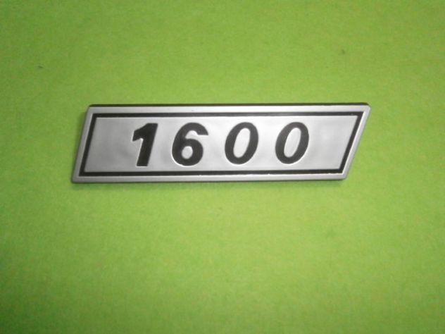 Scritta posteriore Fiat 132 1600 seconda serie NUOVA