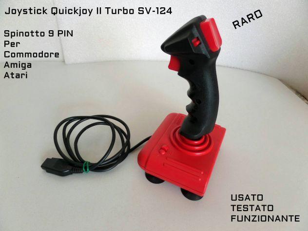 Joystick Quikjoy 2 Turbo SV-124 per Amiga,Commodore, Originale vintage