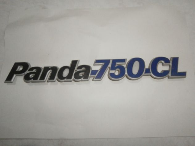 SCRITTA POSTERIORE FIAT PANDA 750 CL