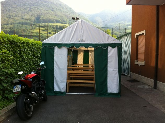 MM Italia Linea Platino Tendoni, Tenso 3 x 6 Pvc Ignifugo uso Pubblico - Foto 7
