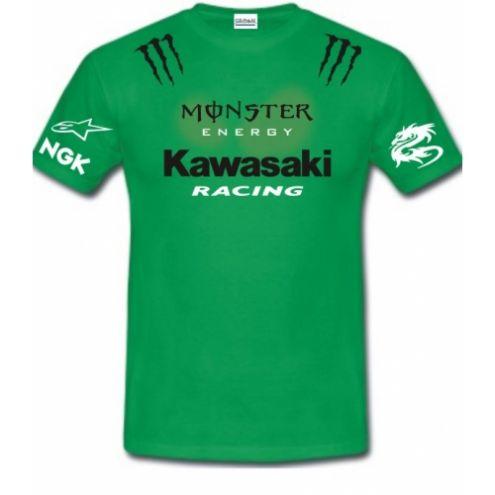 T-SHIRT KAWASAKI MONSTER NINJA KZ Z 1000 750 600 NAKED MOTOGP SUPERBIKE VAR … - Foto 2