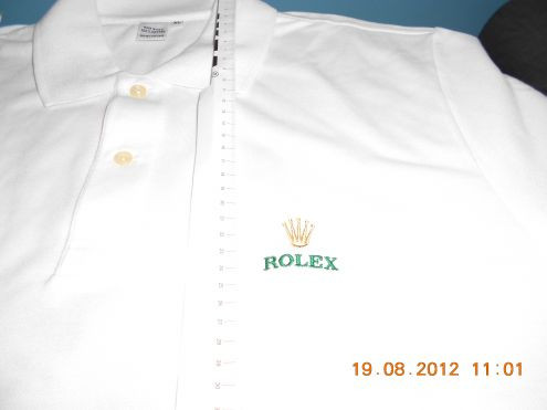 Polo ROLEX Golf Shirt White Mens Size XL VIP NEW RARE - Polo Rolex Bianca XL - Foto 2