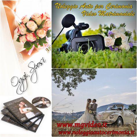 Video matrimoniale in HD e maggiolino cabrio bianco