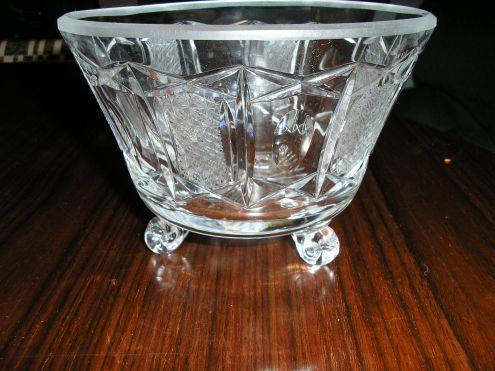 vaso in cristallo anni '50