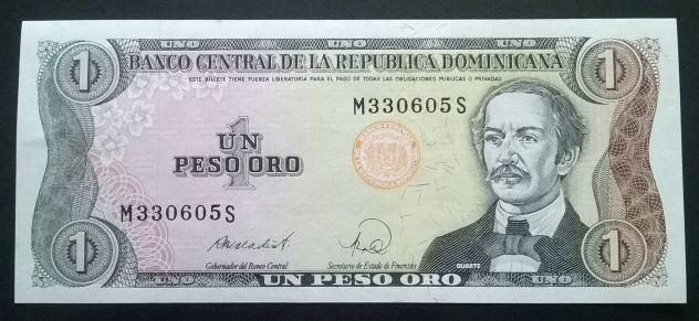 ( G&B ) Banconote: 1 Peso Oro Rep. Dom.1988