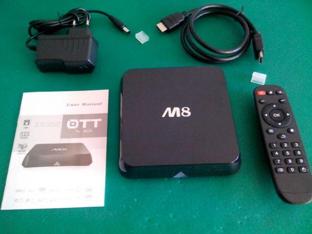 TV BOX ANDROID SMART TV M8 QUAD CORE 2 GIGA FULL HD 1080P