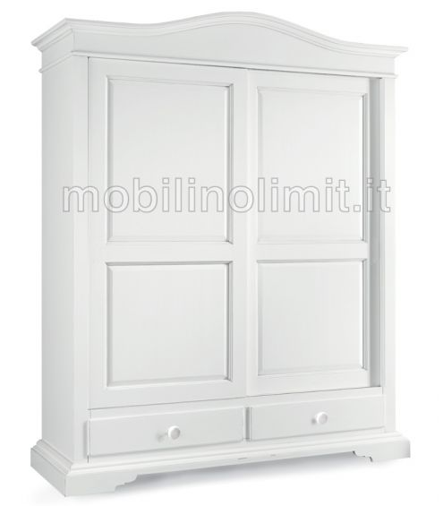 Ikea Armadio 2 Ante Scorrevoli.Armadio Bianco Opaco 2 Ante Scorrevoli Nuovo