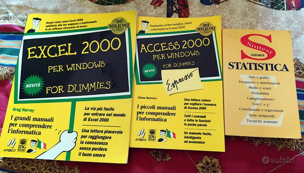 Manuale Excel, Access, statistica