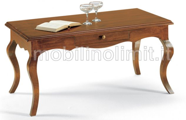 Tavolino Con Cassettino - Grezzo - Nuovo