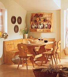 Cucine in legno: Panca,Tavolo,Sedie Soggiorni completi a Prezzi ...