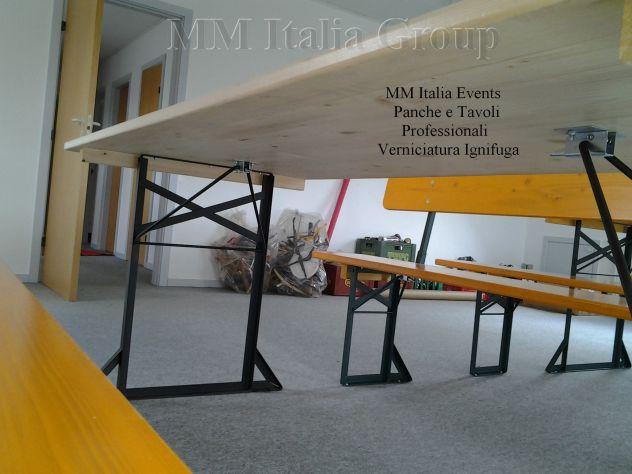 100 set panche e tavoli pieghevoli professionali per sagre noleggio - Foto 5