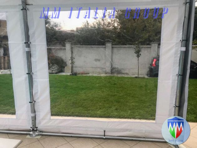 Tendoni Tendostrutture Gazebo  trasparenti  pvc cristal , con velcro, modulari - Foto 5