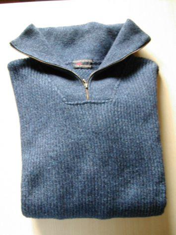 Maglione Blu Collo alto