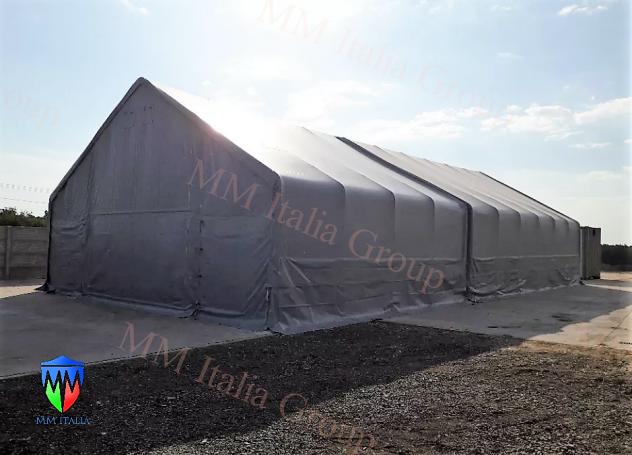 Tendoni Tunnel per Stoccaggio merci, cereali, agricoltura,Edilizia - Foto 3
