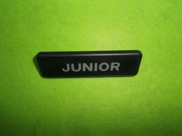 Targhetta parafango anteriore Autobianchi a112 Junior 6a serie NUOVA - Foto 3