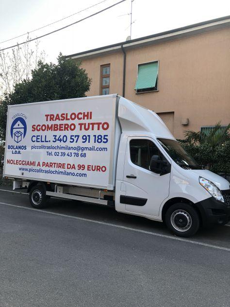 FURGONE CON AUTISTA MILANO A PARTIRE DA 49 € TRASLOCHI BOLANOS L.D.R.