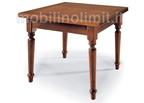Tavolo a libro con gamba tornita (100) - Nuovo