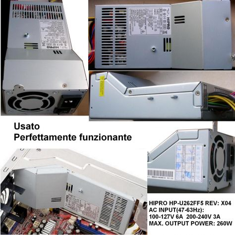 Alimentatore HIPRO HP-U262FF5 260W Power Supply REV: X04 AC INPUT(47-6 - Foto 3