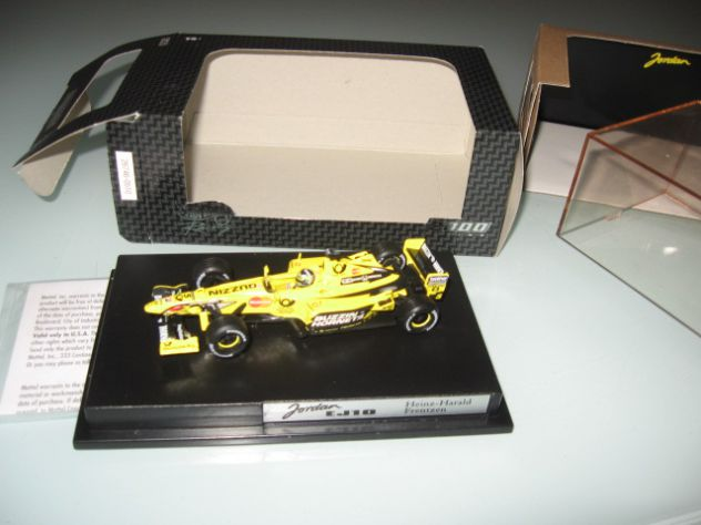 JORDAN EJ10 FRENTZEN  HOT WHEELS 1:43 NUOVO!!!!