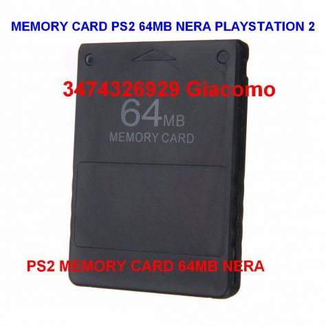 MEMORY CARD PS2 64MB NERA PLAYSTATION 2