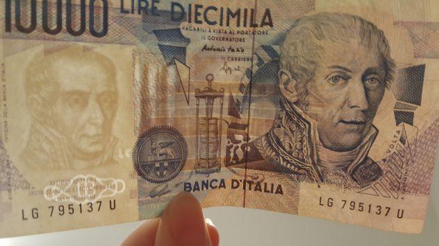 Banconote originali 10.000 Lire Alessandro Volta