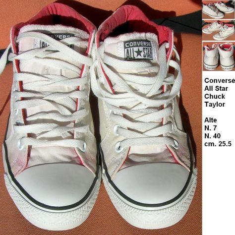 Converse All Star Chuck Taylor tela alte nr. 40 Bianco ottico  Usato