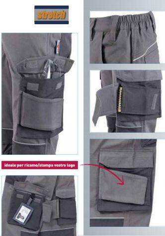 Pantaloni da Lavoro multitasche Elasticizzati (stretch) - Foto 3