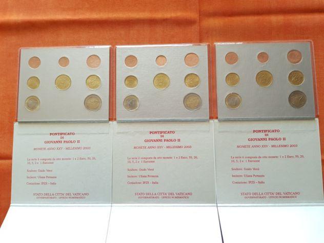 3 Serie divisionali Euro del Vaticano 2003