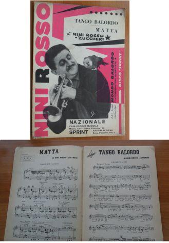 SPARTITO - TANGO BALORDO - MATTA - DI NINI ROSSO -
