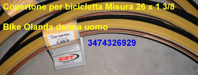 Copertone per bicicletta Misura 26 x 1 3/8  bici classica City olanda - Foto 2