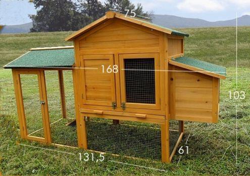 Pollaio in legno da giardino cortile - NUOVO - 195 E - consegna GRATIS