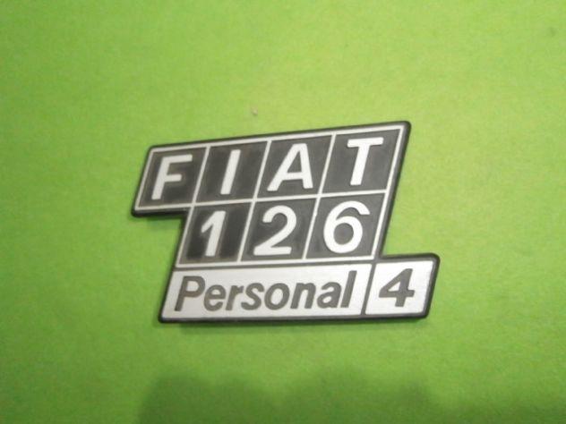 Scritta posteriore Fiat 126 personal 4 NUOVA in metallo - Foto 2