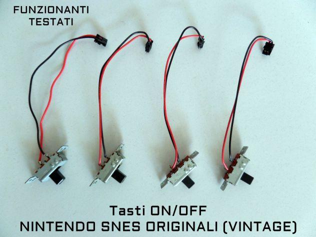 Tasto / Switch On-Off Nintendo SNES (Super Nintendo) Originale. Ricamb