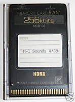 RAM CARD KORG MCR-03 SCR-512 RAM CARD ROLAND M256 M512