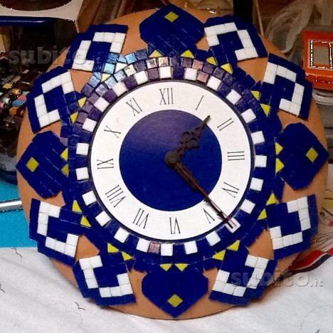 Orologio da parete lavorazione mosaico