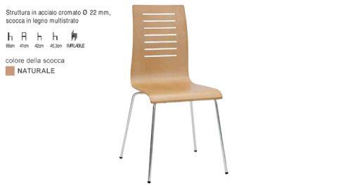 Sedia legno multistrato - Nuovo