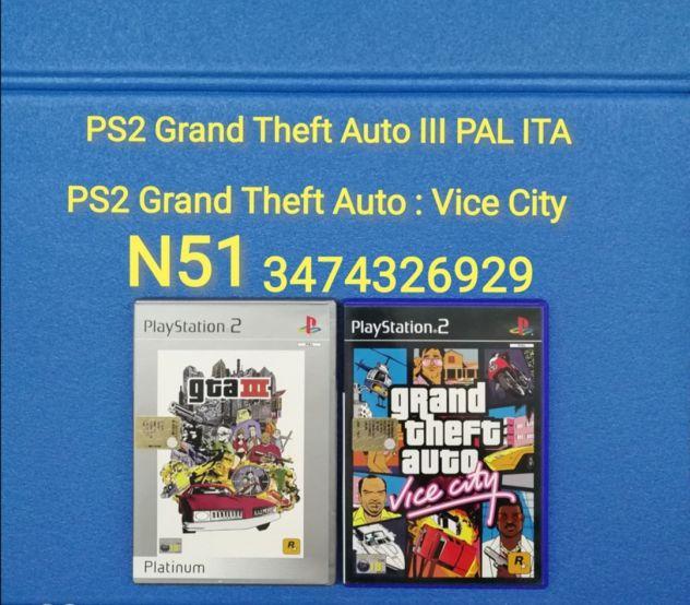 PS2 Grand Theft Auto III PAL ITA