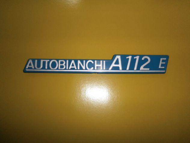 Autobianchi A112 1°s prima serie Elegant scritta logo targhetta posteriore NUOVA