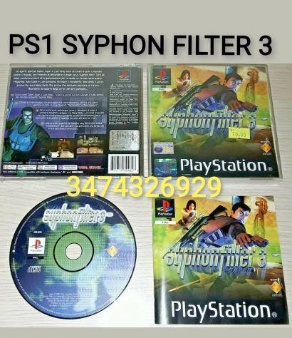 Gioco PS1 SYPHON FILTER 3 PAL ITA