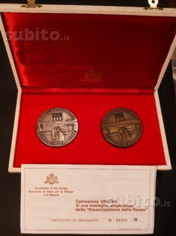 Medaglie emancipazione della donna San Marino 1973