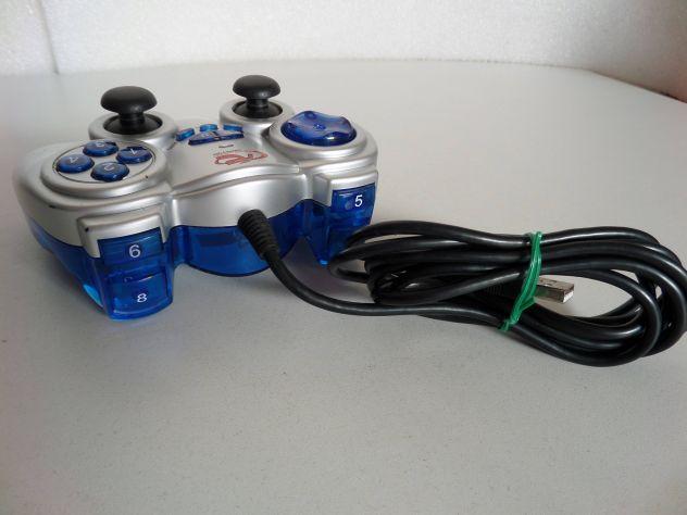 Joypad per PC (stile playstation) con levette + vibrazione, spin. USB - Foto 3