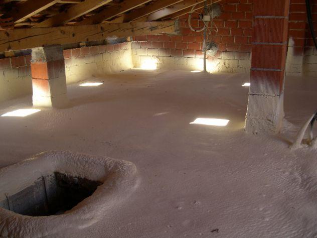 Poliuretano espanso a spruzzo isolamento termico isolamneto sottotetto - Foto 4