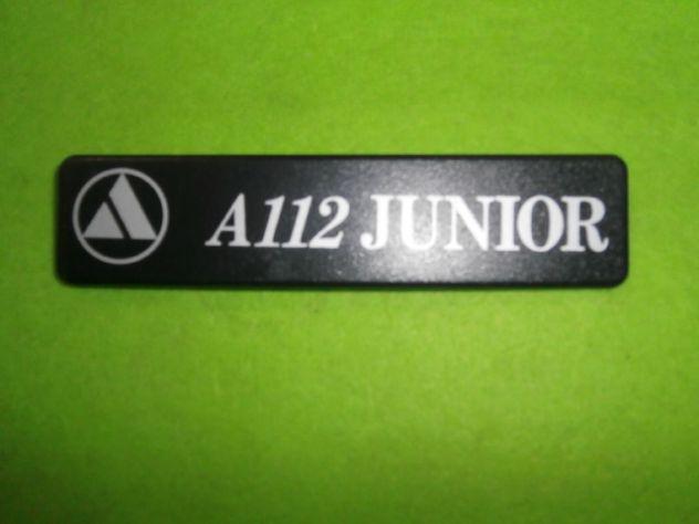 Logo targhetta posteriore Autobianchi a112 Junior 6a serie (1983>) NUOVA - Foto 2