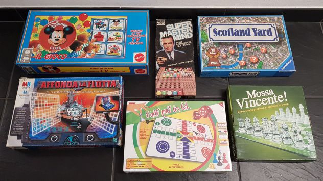 Lotto 6 giochi da tavolo vintage