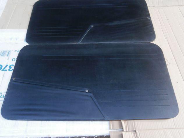 Pannelli porta anteriori Fiat 850 berlina neri  NUOVI