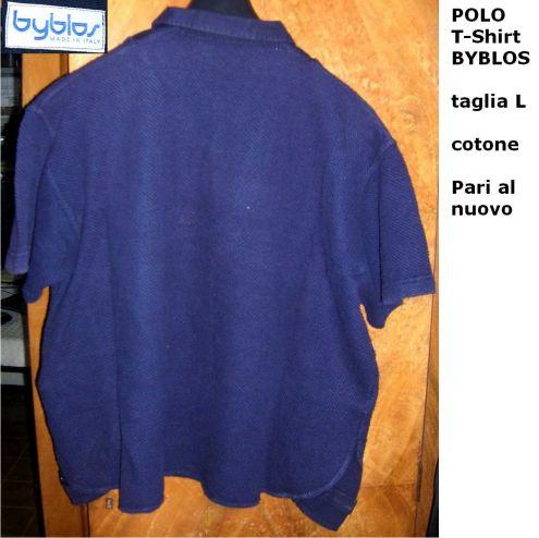Polo T-Shirt BYBLOS taglia L cotone  Elegante sportiva raffianta  . - Foto 2