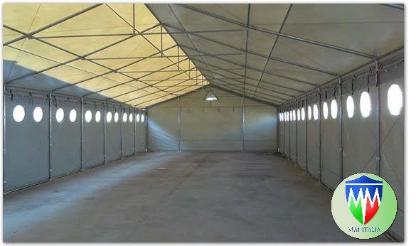 Tendoni  coperture per deposito magazzino 8 x 20 con velcro uso annuale