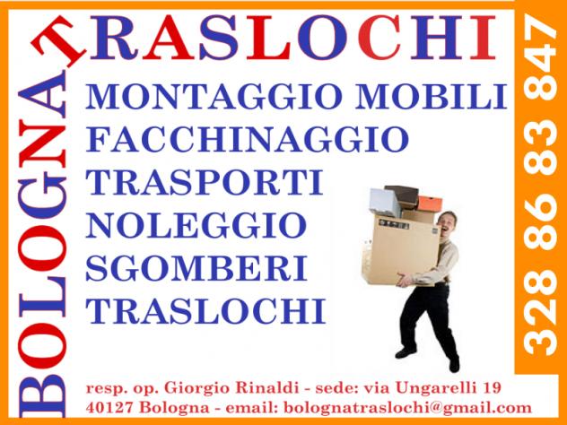 Il trasloco facile a Bologna-- MONTAGGIO MOBILI & TRASLOCHI & SGOMBERI -
