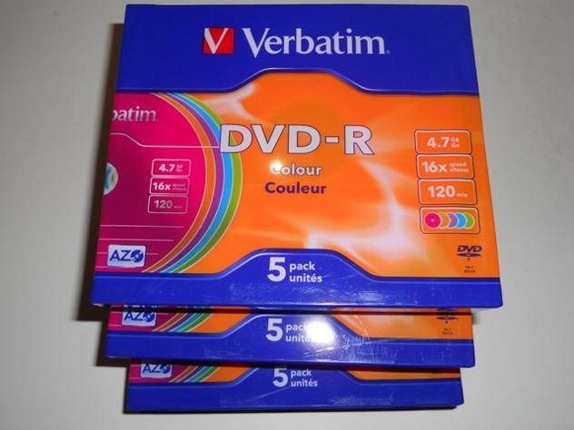 DVD-R VERBATIM PACCO DA 5 PEZZI CUSTODIA SLIM Euro 6
